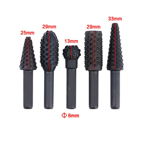 Image of 5pcs Premium Carbide Rotary Burr Set