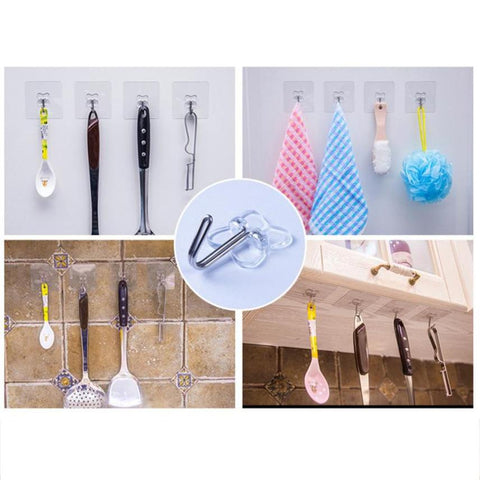 Image of Seamless Reusable Self-Adhesive Hooks (10 PCS)