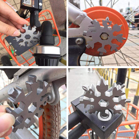 Image of 15-in-1 Stainless multi-tool snowflake