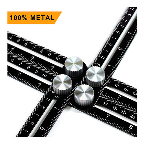 Gearbombard Universal Angularizer Ruler | Made of Aluminium
