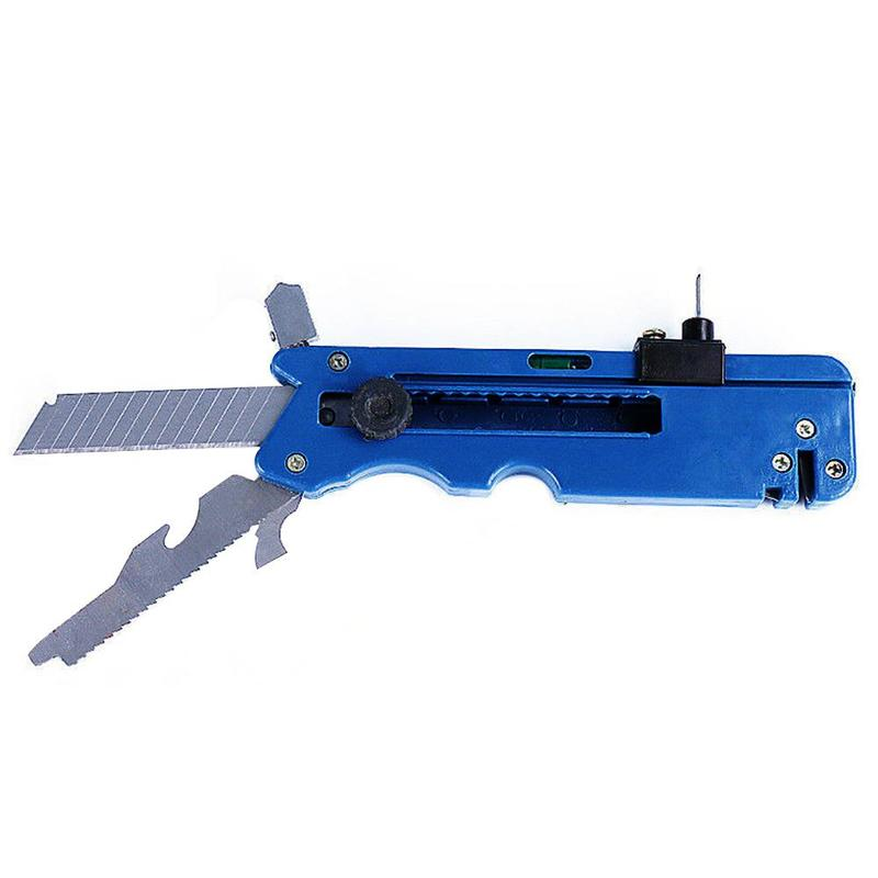 10-IN-1 Multifunction Glass Tile Cutter Metal Cutting Kit Tool with Measure Ruler