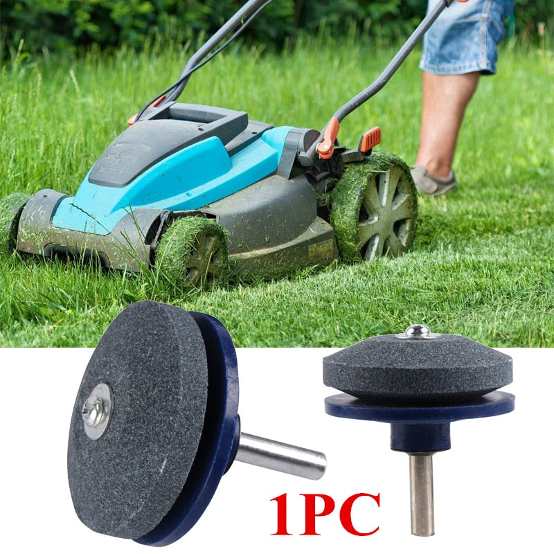 2pcs Blade Sharpener For Any Power Drill  Lawn Mower Garden Part Tools