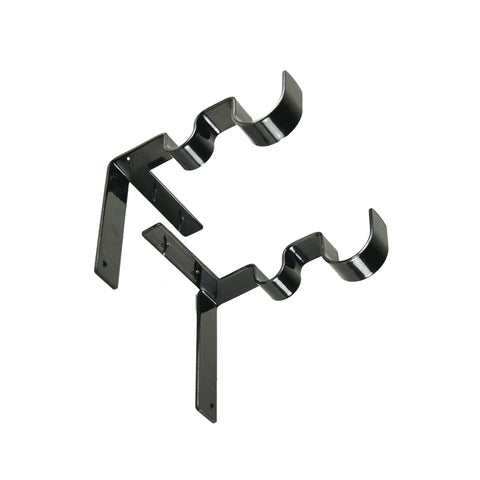 Image of Durable 2pc Double Curtain Rod Holder