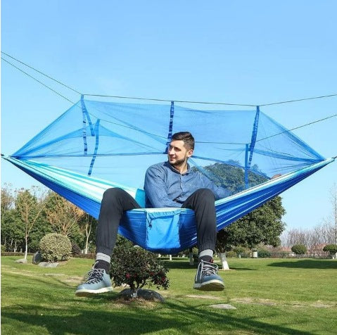 Image of Ultralight Parachute Hammock Hunting Mosquito Net Double Person Outdoor Furniture Hammock
