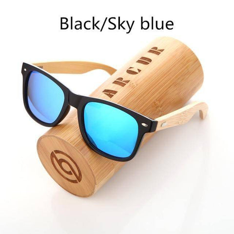 Image of Vintage Acetate Wood Sunglasses For Men/Women,High Quality Polarized Lens UV400 Classic Sun Glasses