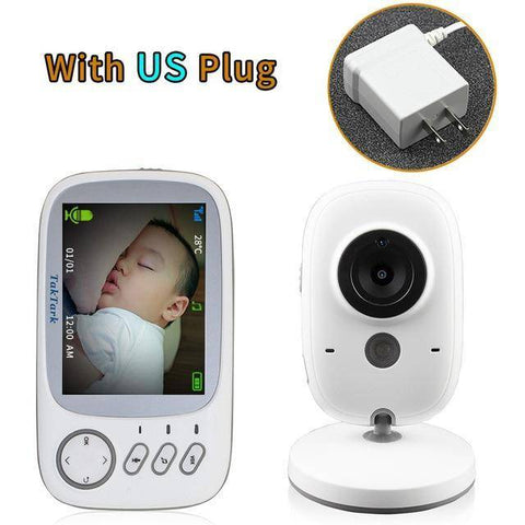Image of Wireless Audio  Video Color Baby Monitor High Resolution Baby Nanny Security Camera  Night Vision Temperature Monitoring