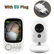 Wireless Audio  Video Color Baby Monitor High Resolution Baby Nanny Security Camera  Night Vision Temperature Monitoring