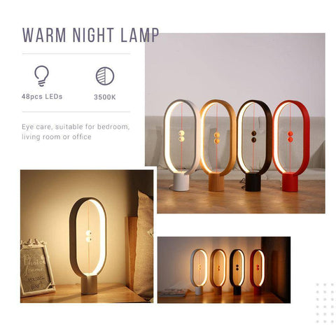 Image of Wooden Magnet Lamp Lovers_Lamp Indoor Night Light Decoration Eye Protection For Christmas Lights