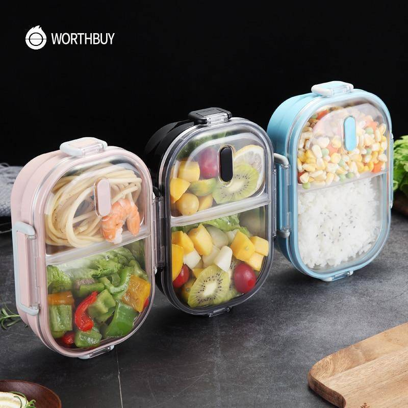 WorthBuy Japanese Portable Lunch Box For Kids School /Food Container Food Box