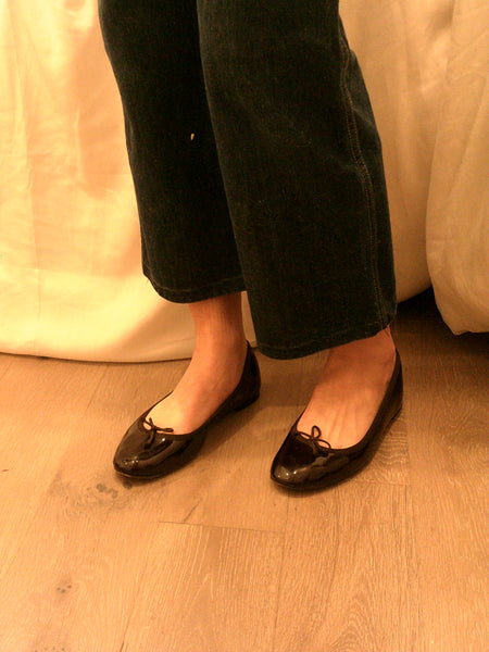 Patent Chocolate Repetto Flats