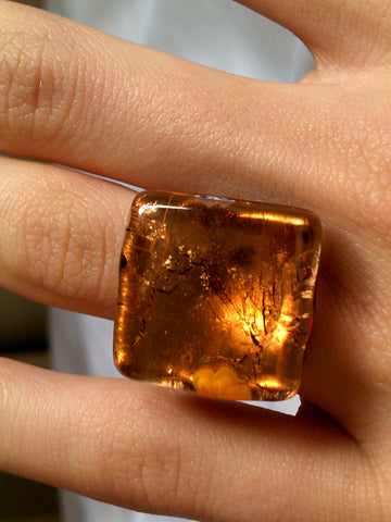 Golden Glass Ring