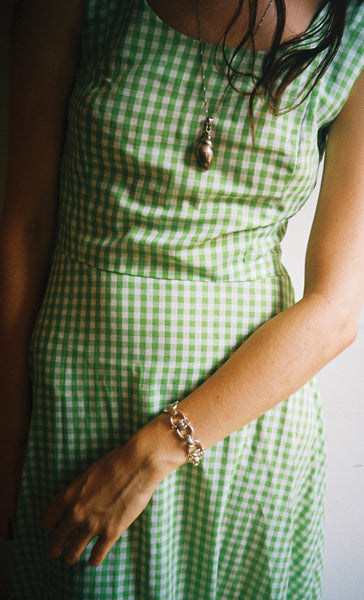 Lime Gingham Gown
