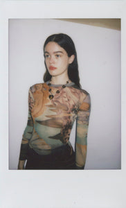Jean Paul Gaultier Birth of Venus Mesh Top