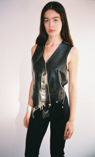 JPG Vegan Leather Vest
