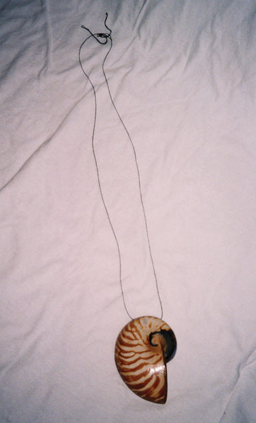 Brown and White Shell Pendant