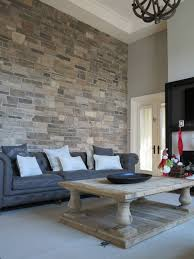 Stone on wall in living room