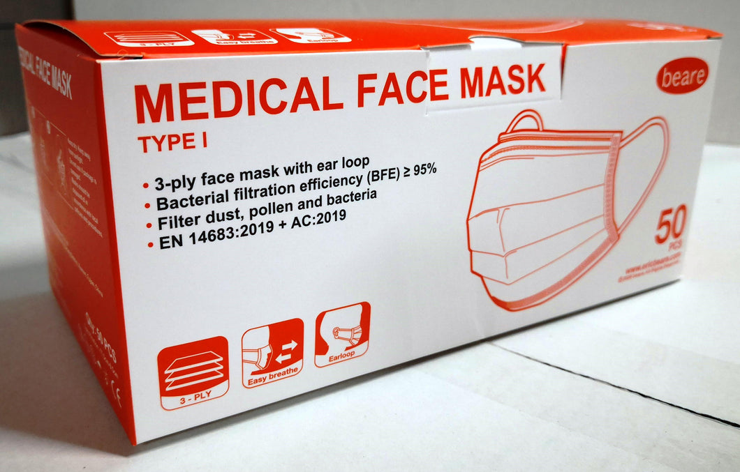 Beare Medical Face Mask (Type 1)
