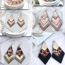 Load image into Gallery viewer, Fringe Leather Earrings