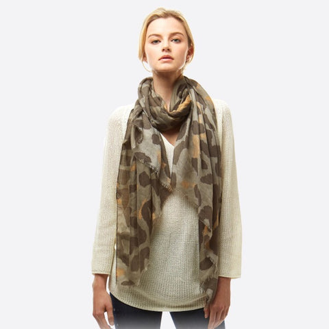 Olive Leopard Scarf
