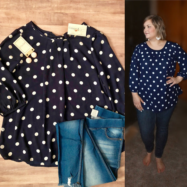 Daisy Polka Dot Top