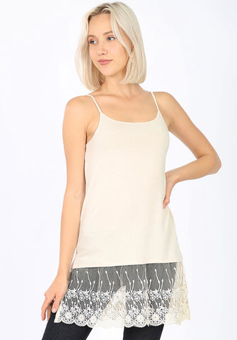 Leann Lace Bottom Tank