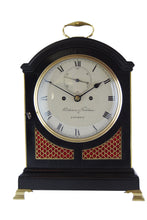 Load image into Gallery viewer, Ebonised repeating bracket clock by Parkinson & Frodsham. - SOLD