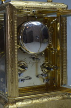 Load image into Gallery viewer, Engraved Carriage Clock by Alliez and Bergere No. 205