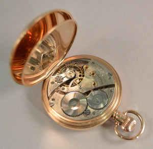 WALTHAM 9CT GOLD GENTLEMAN'S POCKET WATCH