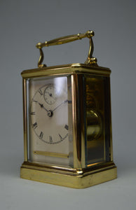 Rare and Interesting Carriage Clock with English Platform.
