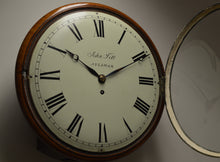 "Load image into Gallery viewer, 12"" Fusee Dial Clock by John Till - Aylsham, circa 1840"
