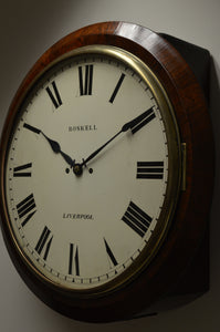 "16"" Fusee Striking Dial Clock by 'Roskell - Liverpool' circa 1823"