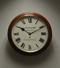 "Load image into Gallery viewer, 12"" Fusee Dial Clock by 'J. Gill and Son - Clerkenwell' circa 1885"