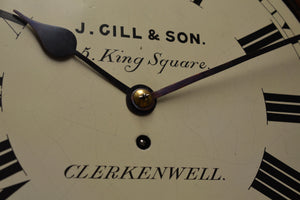 "12"" Fusee Dial Clock by 'J. Gill and Son - Clerkenwell' circa 1885"
