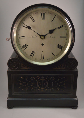 Ebonised Domed Top Bracket Clock by Walker of Birkenhead.