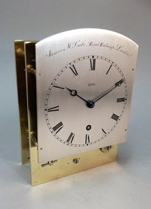 Small sized library clock by James McCabe of London. - SOLD