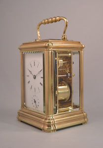 Canelee Cased Carriage Clock with Alarm