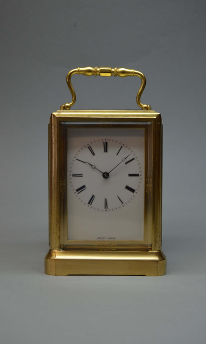 Rare and Interesting Carriage Clock by Joules, signed Mottu Paris.
