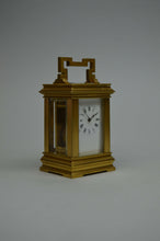 Load image into Gallery viewer, Miniature Carriage Clock in Anglaise Case.