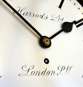Lovely Early 20th century dial clock retailed by Harrods, London SW. - SOLD
