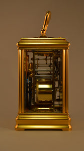 Petite Sonnerie Cannelee Carriage Clock by Drocourt - SOLD