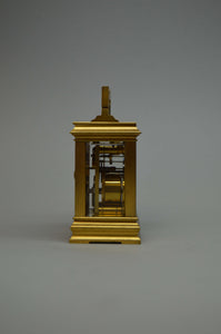 Miniature Carriage Clock in Anglaise Case.
