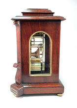 Load image into Gallery viewer, Small sized library clock by James McCabe of London. - SOLD