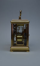 Load image into Gallery viewer, Cannelee Cased Repeating Carriage Clock by Drocourt - SOLD