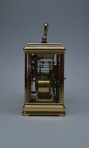 Cannelee Cased Repeating Carriage Clock by Drocourt - SOLD