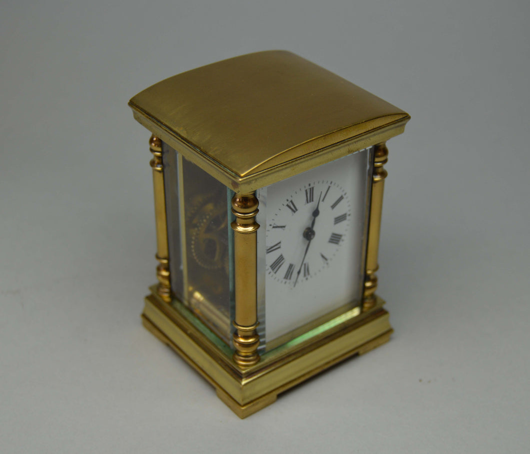 Miniature Carriage Clock with Original Presentation Case.