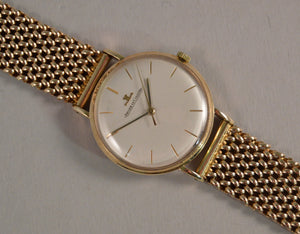 Jaeger Le Coultre Gentleman's 9ct Gold Manual Wind Wrist Watch - 1960