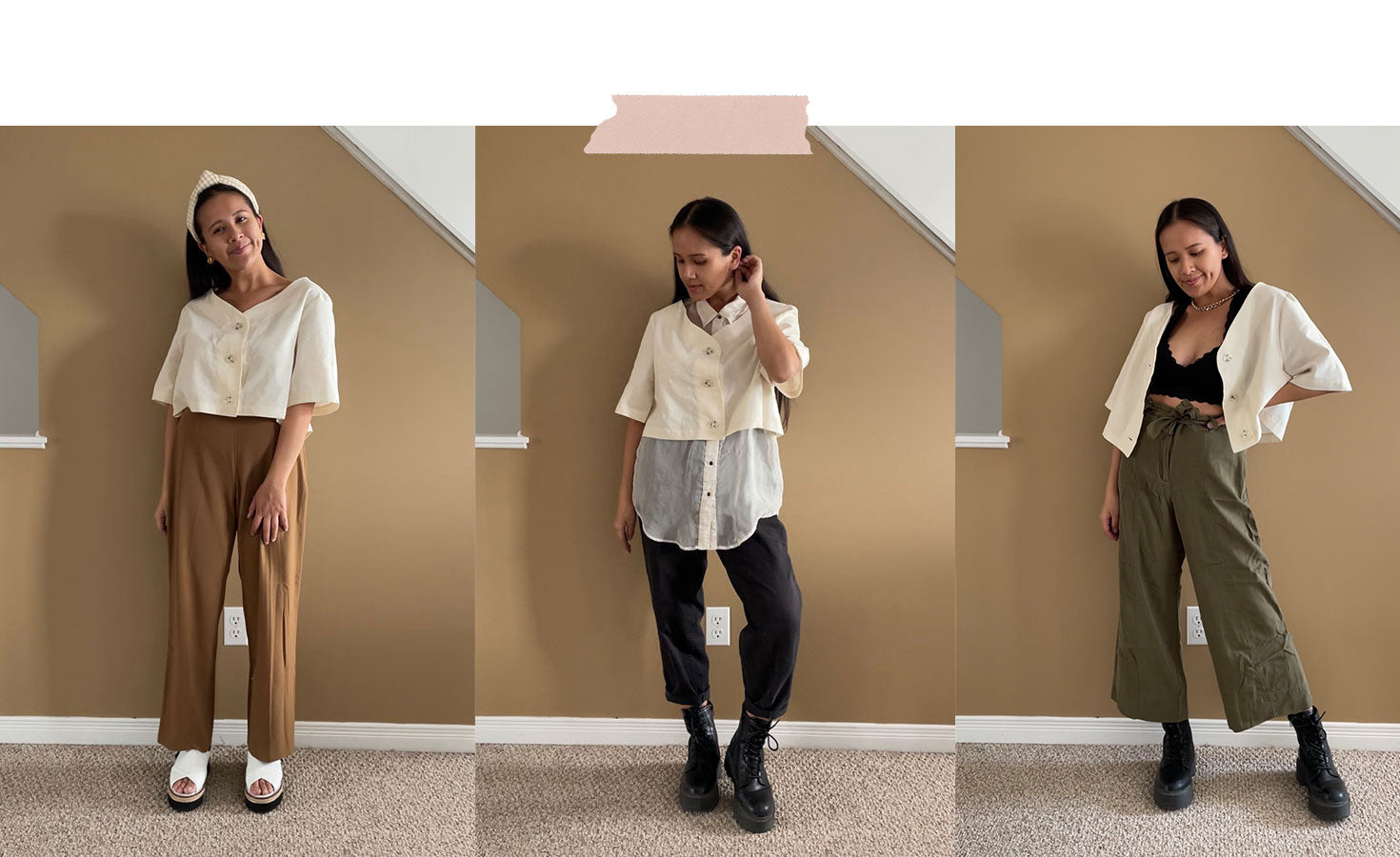 glass garden blouse outfits for spring styled by with nini