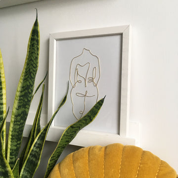 Armour wire art - white frame lifestyle