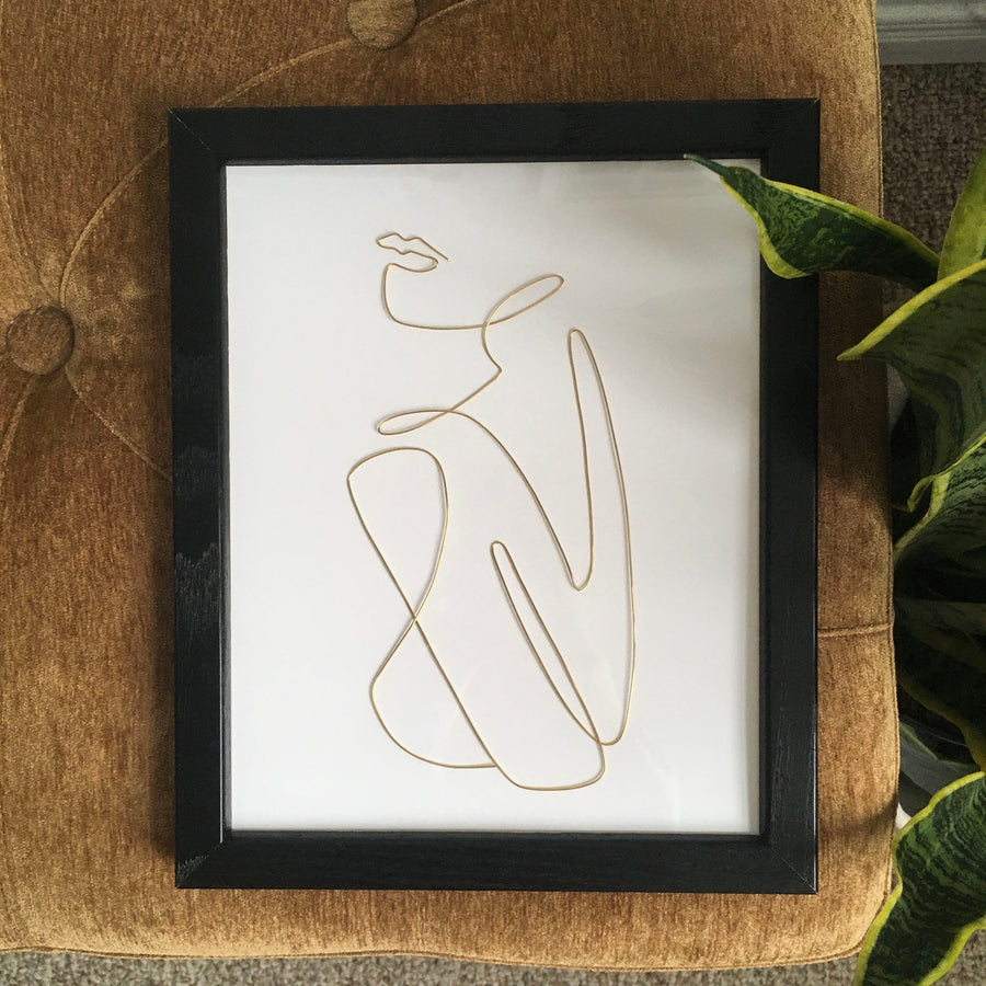 Comfort wire art - black frame lifestyle