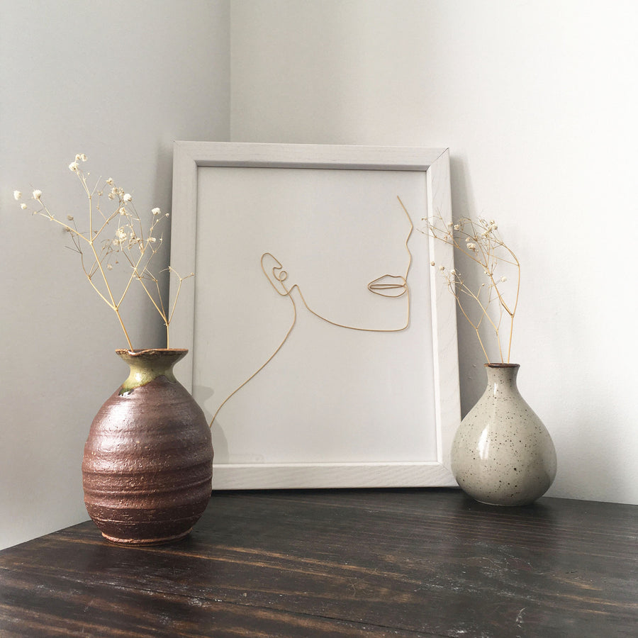 Unwind Wire Art - white frame lifestyle